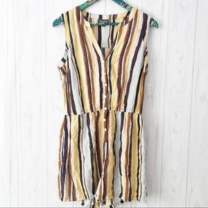 NWOT ModCloth Striped Romper Size Large